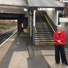 Margaret Greenwood MP at Meols station