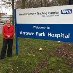 Margaret Greenwood MP at Arrowe Park Hospital